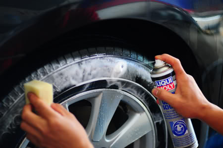 Polishing tires